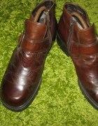 skórzane ocieplane buty 38