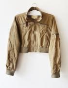krótka kurtka bomberka khaki M