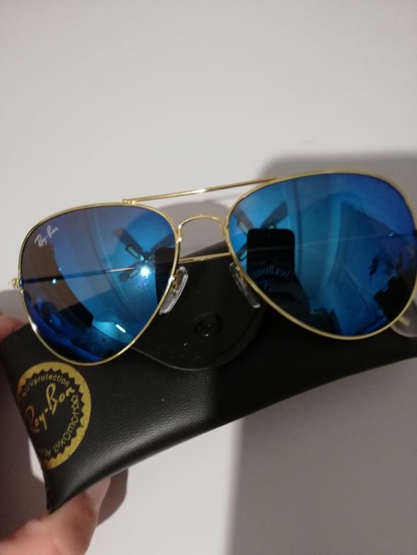 f2c97b293c1937 Ray ban aviator 3025 58mm niebieskie lustrzanki w Okulary - Szafa.pl
