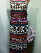 sukienka maxi wzorzysta 42