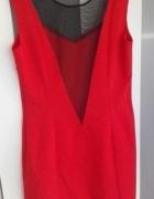 Czerwona sukienka z siateczką M