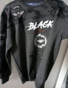 Szara z wypukłym napisem Black