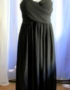 Czarna lejąca sukienka maxi r L...