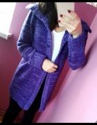 Sweter kadrigan H&M placiony narzutka rozmiar S