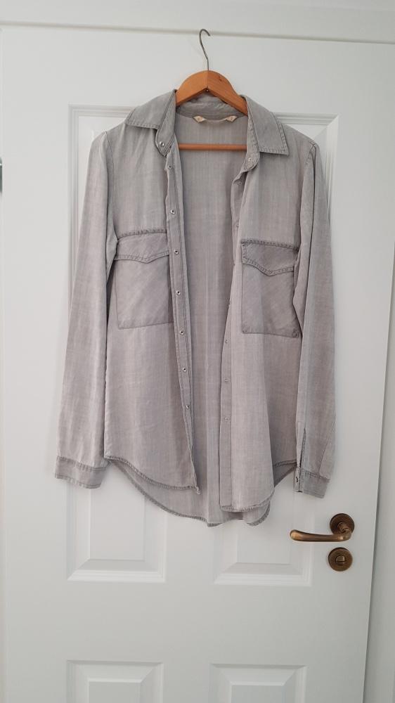 Szara koszula Zara Woman 36 w Koszule Szafa.pl