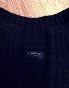 Czarny wełniany sweter rozpinany na suwak XL
