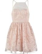 Ariana grande sukienka koktailowa pudrowy róż...