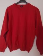 Sweter w serek czerwony xxl