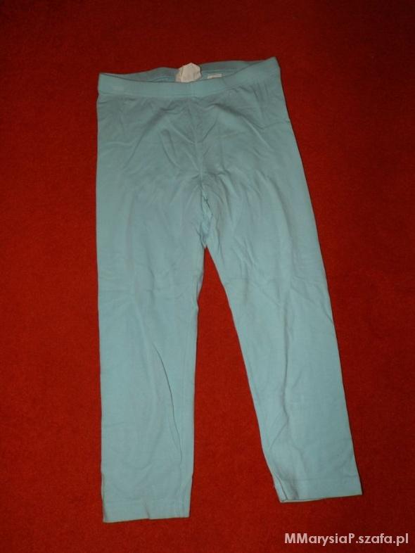 Błękitne legginsy 152 cm...