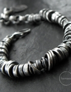 studio formood modern raw oxidized silver bracelet...