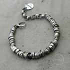 studio formood modern raw oxidized silver bracelet