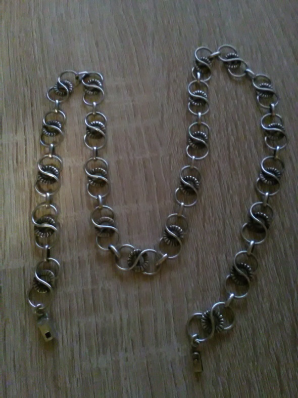 Stary srebrny naszyjnik piękne ogniwka