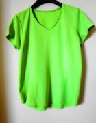 Sportowa funkcyjna bluzka t shirt neonowa z odlaskami