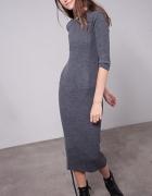 sukienka szara sznurowana S