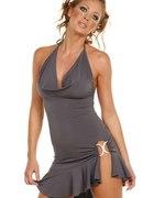 NOWA seksowna sukienka z stringami 36 szara
