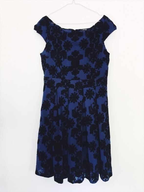 Suknie i sukienki wieczorowa sukienka Orsay kwiatowa 40 L