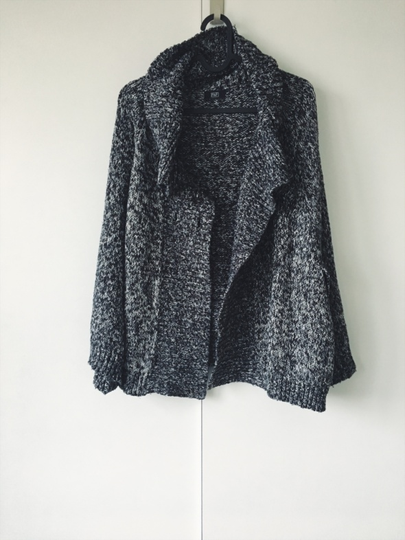 sweter narzutka ponczo melanż oversize zimowy F&F...