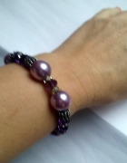 fioletowa z koralików