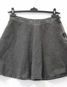 Jeansowa rozkloszowana spódniczka mini L