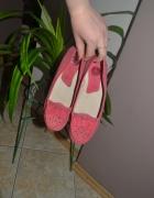 Lasocki Mokasyny malinowe róż balerinki 35 rozm 36rozm 23cm...