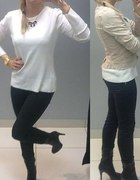 Czarne jeansowe rurki bik bok xs