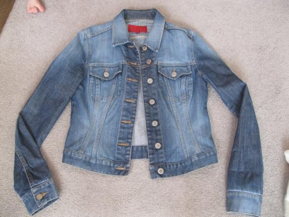 Odzież wierzchnia kurtka jeans katana FCUK M niebieska przecierana