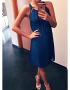 Kobaltowa sukienka camaieu