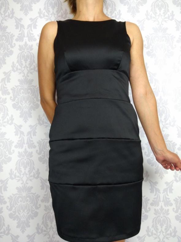 Suknie i sukienki Czarna elegancka sukienka bandażowa