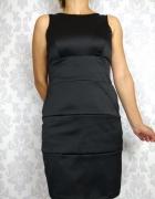 Czarna elegancka sukienka bandażowa