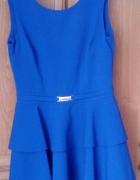 niebieska sukienka 38