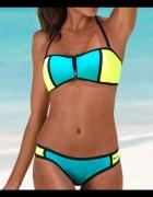 36 S Bench Bikini strój kąpielowy neonowy bandeau...