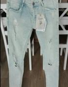 Zara Premium spodnie jeans rozdarcia