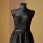 śliczna tiulowa czarna sukienka nowa s gorsetowa