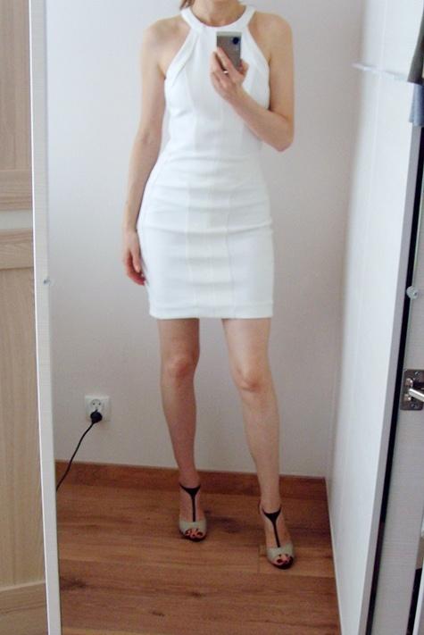 Mango sukienka tuba biała 34 XS...
