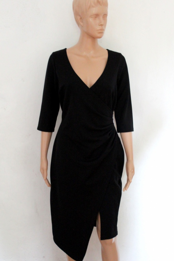 1481ceb81c Elegancka czarna sukienka midi r XL w Suknie i sukienki - Szafa.pl