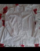 biała koszula trapezowa