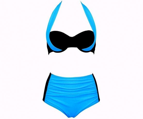Strój kąpielowy BIKINI WYSOKI STAN kostium XL 42