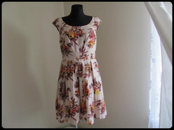 Suknie i sukienki Jedwabna sukienka L i XL elegancka wesele chrzest komunia