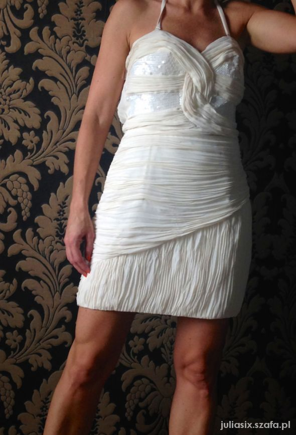 Lipsy Strapless Cross Over Bust Dress