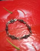 Róże w srebrze bransoletka srebro 800 antyk