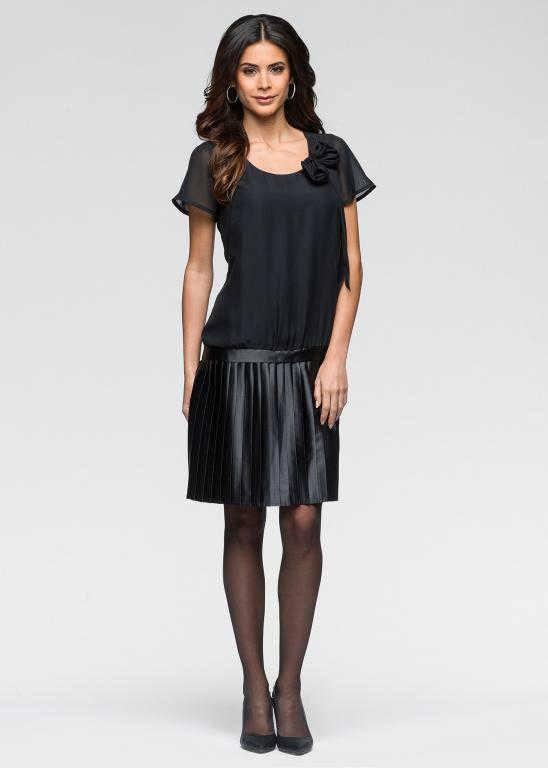 Nowa szyfonowa elegancka sukienka Bon Prix XS S...