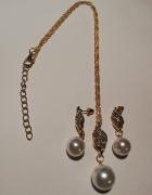 Komplety z perełkami złoty i srebrny