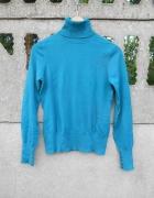 szmaragdowy Sweter golf S M marki Oasis