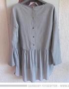 Włoska dresowa asymetryczna bluzka bluza z tyłu guziki jedwab