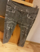 szare legginsy imitujące jeansy rozmiar M