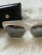białe okulary przeciwsłoneczne Mohito
