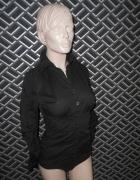 Czarne koszulowe body
