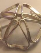 Piękna srebrna artystyczna broszka ORNO