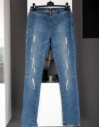tregginsy jegginsy spodnie na gumce skinny rurki dżinsy jeansy ...