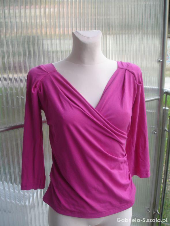 Sexowna różowa bluzka z głębokim dekoltem L 40...